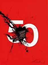 """litografia Emilio Scanavino """"Numero 50"""" / """"Number 50"""" - Firmato/Signed"""