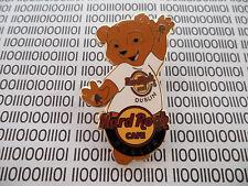 Hard Rock Cafe Dublin 2009 - Classic white Tee Logo Shirt - HRC Bear Series Pin