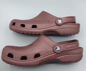 Crocs Slip-on Clogs Women's Size 8 Men'/ Size 6 Burgundy Shoes