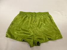 Green  Satin Boxers in Medium