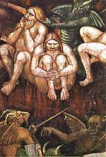 Postcard Italy Citta Di San Gimignano Taddeo Bartolo Last Judgment Hell Sloth