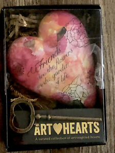 DEMDACO Friends Are the Flowers Art Heart Sculpture New In Box NIB