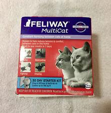 New listing Genuine Feliway Multicat 30 Day Starter Kit -New damaged box- Free Shipping-