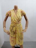 Vestitino UNGARO FUCHSIA Donna Taglia Size M Dress Woman Maniche Corte 7646