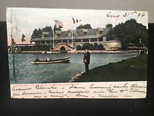 Antique POSTCARD c1906, 1000 Island, NY. Welcome Island Yacht Club (18Jun20)