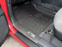 2016 - 2017 Toyota Tacoma Access Cab 2-Piece Black Front Floor Liners