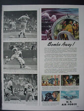 1951 B-50 Bomber US Air Force Recruiting Vintage Print Ad 12355