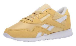 Reebok Classic Nylon Weathered Yellow, White Womens Running Tennis Shoes FW2183