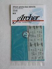 Archer 1/35 37mm 20-Round Ammo Crate Stencils AR35293