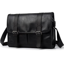 Retro Men Black Leather Messenger Shoulder Bag Satchel Cross Body Travel Handbag