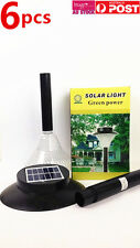 6x Garden Solar Powered Lights 16 LED Ground Recessed Light Outdoor Deck Pathway