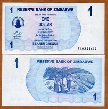 Zimbabwe, 1 dollar, 2006, P-37, AA-Prefix, UNC
