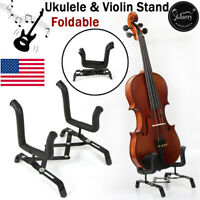 Music Senior Folding Stand Portable for Electric Guitar Violin Ukulele Mandolin