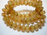 25 8x6mm Whisper pink / jonquil yellow Blend Czech Glass Picasso Rondelle beads