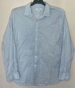 David Jones Mens Size XXL Casual Dress Shirt Long Sleeve Button Front Cotton Top