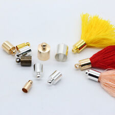 20p Metal plated Necklace Leather Cord End caps Tassel crimp connectors bead cap