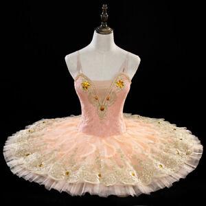 Peach Pink Fairy Classical Ballet Tutu 4 Professional Dance Competition Festival