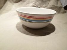 Longaberger Pottery Woven Tradition Sunny Day Blue Striped Soup Salad Bowl Dish