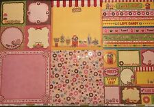 Best Creation Candy Shop 12X12 Glitter 12pc Cardstock Scrapbook Kids Crafts SALE