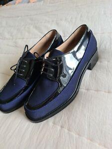 Stephane Kelian shoes size 6.5 blue lace up brand new