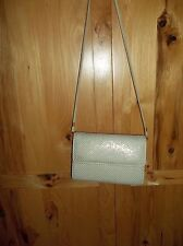 Vintage Winter White Whiting and Davis Mesh Purse Evening Bag Euc