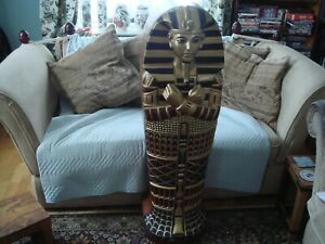 Egyptian sarcophagus cd storage rack cupboard cabinet 4ft from large collection