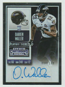 DARREN WALLER Signed 2015 Contenders PLAYOFF TICKET Autograph SP RC AUTO #/199