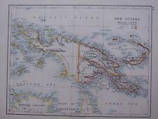 1918 MAP NEW GUINEA KAISER WILHELMS LAND BISMARCK ARCHIPELAGO BRITISH POSSESSION