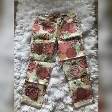 NINE WEST America Collection VINTAGE BOHO Crop Capris Floral Jeans Size 4/27