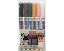 Mr.Hobby GMS113 Gundam Marker Real Touch Marker Set 2 (6 colori) modellismo