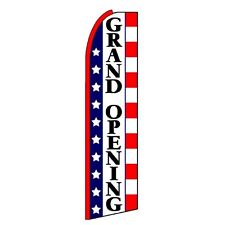 Grand Opening Banner Flag Sign Display Only Flutter Swooper Feather 3' Wide