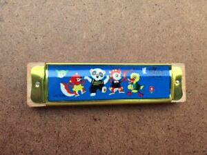 VINTAGE Star Harmonica Kids Musical Instrument Toy Music Box Circus Animals MINT
