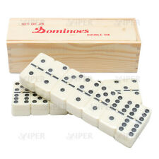 Dominoes with Spinners in Wood Box with Slide Lid Double Six CARTA VIPER