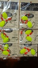 6 Squiggler 3 hook worm harness's USA made crawler harness's