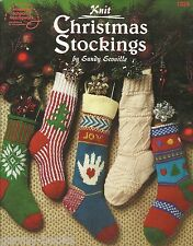 Knit Christmas Stockings Sandy Scoville Knitting Instruction Patterns ASN NEW