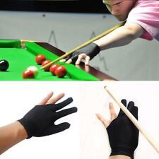 Snooker Pool Billiard Glove Cue Shooter Spandex 3 Finger Glove Left Right Hand v