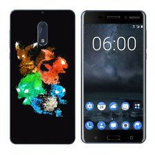 Soft TPU Silicone Case For Nokia 6 Protective Phone Back Covers Skins Black