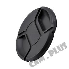 2x 49mm Snap-on Center Pinch Front Lens Cap For Canon Nikon Pentax Olympus