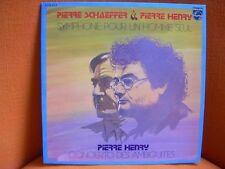 VINYL 33T – MUSIQUE CONCRETE MUSIC: PIERRE HENRY + SCHAEFFER: SYMPHONIE HOMME