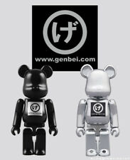 Bearbrick Be@rbrick Genbei Black & Silver 100% Limited Set of 2pcs