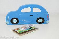 PENCIL BOX VW VOLKSWAGEN BEETLE KAFER BLUE PLASTIC MADE IN TAIWAN