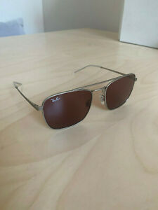 Ray-ban silver frame red lenses aviator sunglasses Model code RB3588 911675 55-
