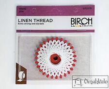 BIRCH - Linen Thread - 20 Metres - White