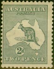More details for australia 1913 2d grey sg3var 'colour flaw left of a' average mtd mint