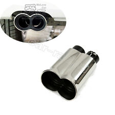 1Pcs Exhaust Tips Muffler For BMW AC 2 Inlet M3 E46 E90 E60 Stainless Steel