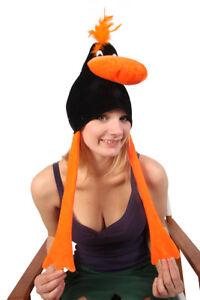 SILLY LEGGY BLACK BIRD NOVELTY FANCY DRESS HAT