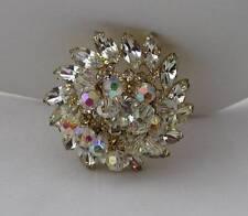 DeLizza & Elster JULIANA Rhinestones Dangling Aurora Borealis Crystal Pin Brooch