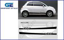 1 Paar FIAT 500 - Auto Seiten Aufkleber - Sticker - Decal <!>