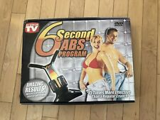 6 Second Abs Program - Ab Crunch Machine with DVD And Program Opened Box