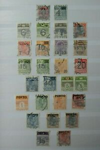 Denmark Stamps - Overprints - Small Collection - E9